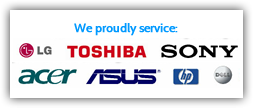 we service all major laptop and desktop computer brands
